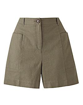Petite Linen Rich Shorts