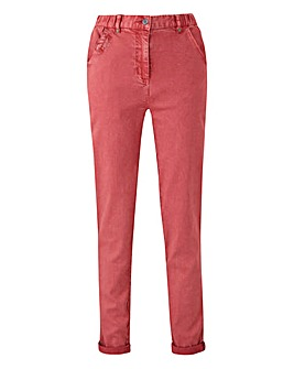 Petite Laundered Turn Up Chino Trousers