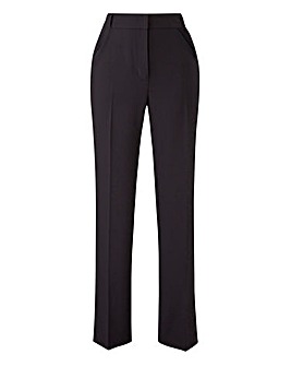 Petite Side Split Hem Straight Trousers