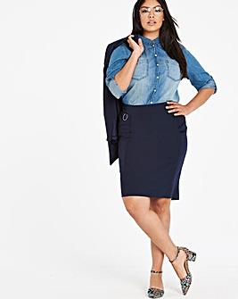 Tailored Smart Pencil Skirt