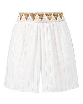 Petite Metallic Bead Waist Shorts
