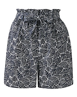 Petite Print Cotton Poplin Shorts