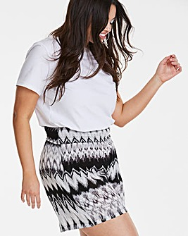 Print Crinkle Shirred Waist Shorts