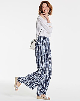 Tie Dye Crinkle Shirred Waist Trousers