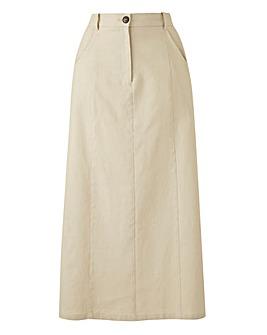 Petite Linen Rich Maxi Skirt