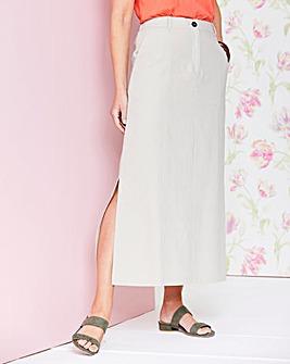Linen Rich Maxi Skirt