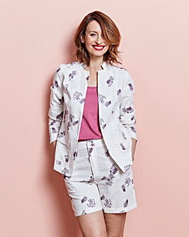 Printed Linen Blazer