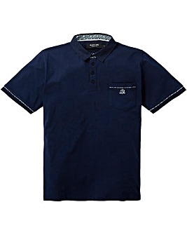 Black Label Trim Plain Polo Long