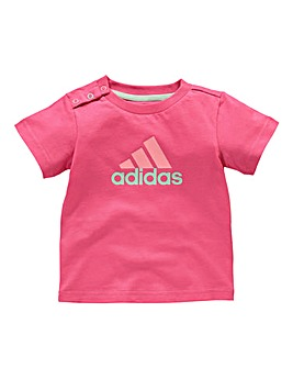 adidas Girls Logo Tee