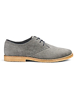 Lace Up Casual Derby Shoes Extra Wide