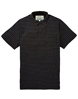 Jacamo Hacksaw Striped Jersey Polo Long