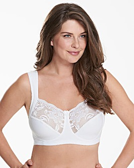 Miss Mary Cotton and Lace Non Wired Bra