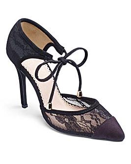 Ax Paris Lace Court Shoes D Fit