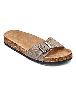 Sole Diva Buckle Footbed Sandals EEE Fit