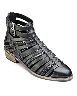 Sole Diva Strappy Ankle Boot E Fit