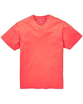 Capsule Coral V-Neck T-shirt R