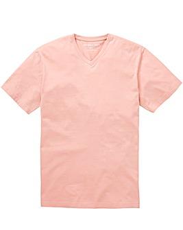 Capsule Dusky Pink V-Neck T-shirt L