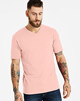 Capsule Dusky Pink V-Neck T-shirt R