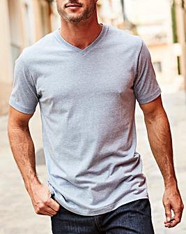 Capsule Blue Marl V-Neck T-shirt R