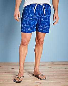 Capsule Blue Yacht Print Swimshorts