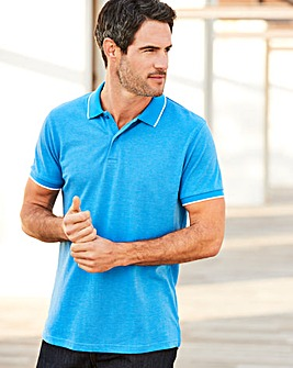 Capsule Blue Short Sleeve Tipped Polo R