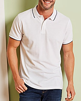 Capsule White Short Sleeve Tipped Polo R