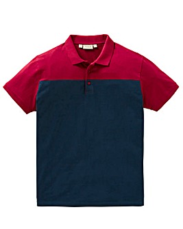 W&B Wine Colour Block Polo R