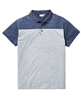 W&B Denim Colour Block Polo R