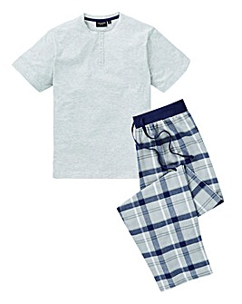 Capsule Blue Check Woven Bottom PJ Set
