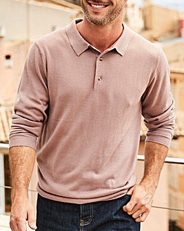 Capsule Pink Long Sleeve Knitted Polo R