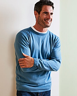 Capsule Mid Blue Crew Neck Jumper R