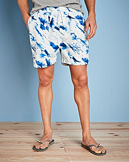 Capsule Blue Water Print Swimshorts
