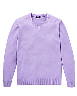 Capsule Lilac V-Neck Cotton Jumper R