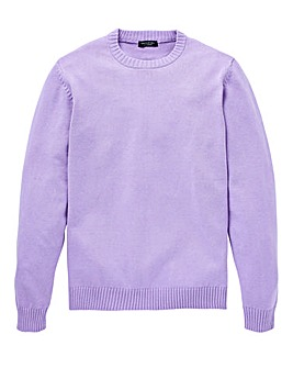 Capsule Lilac Crew Neck Cotton Jumper L
