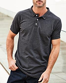 Capsule Charcoal Short Sleeve Polo R
