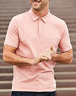 Capsule Dusky Pink Stretch Jersey Polo R