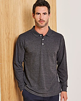 Capsule Charcoal Long Sleeve Polo R