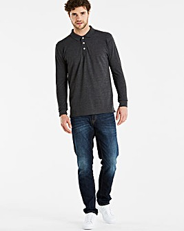Capsule Charcoal Long Sleeve Polo L