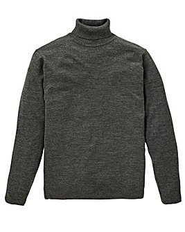 Capsule Charcoal Roll Neck Jumper R