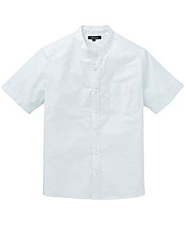 Capsule White S/S Grandad Oxford Shirt L