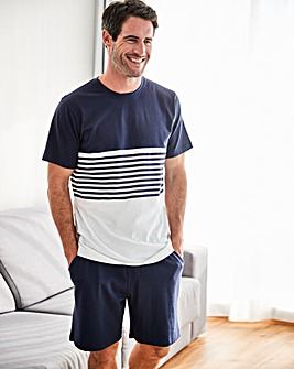 Capsule Navy Stripe Jersey PJ Set