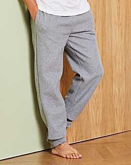 Capsule Grey Fleece Cuffed Loungepants