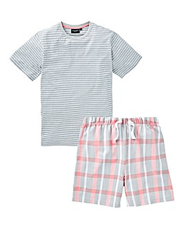 Capsule Coral Check Shorts PJ Set
