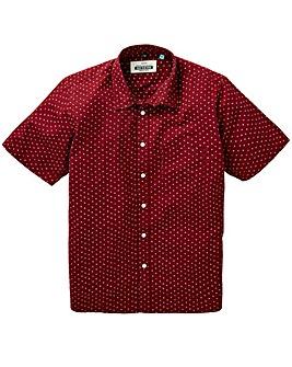 Jacamo S/S Geo Print Shirt Long
