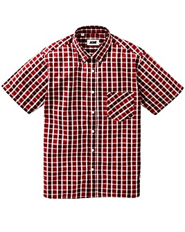 Jacamo Harper S/S Check Shirt Long