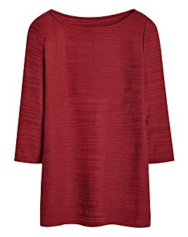 Boat-Neck Jersey Top