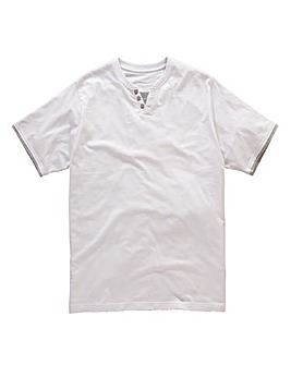 Jacamo White Layered T-Shirt Regular
