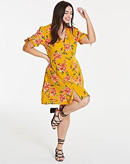 Neon Rose Garden Floral Dress