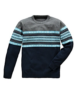 Jacamo Ashton Crew-Neck Jumper Regular