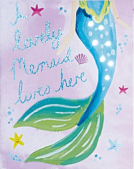 Mermaid World Lovely LED Canvas
